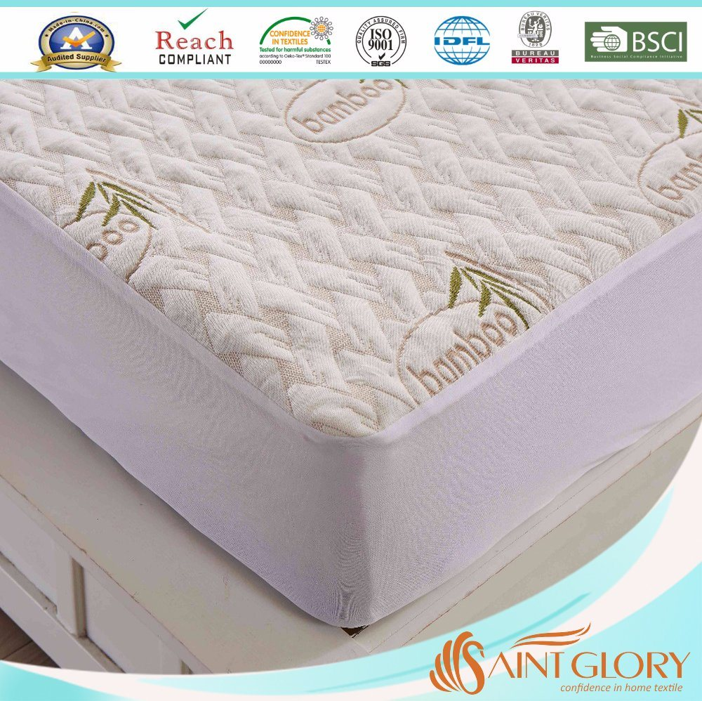 Cool and Breathable Bamboo Mattress Protector Cover - King