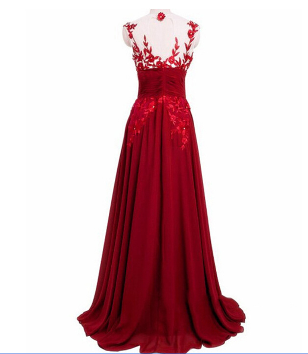 2017 Lace Bridesmaid Prom Evening Dresses La001