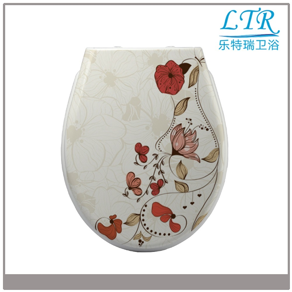 High Quality Specialized Toilet Seat with Flower Pattern