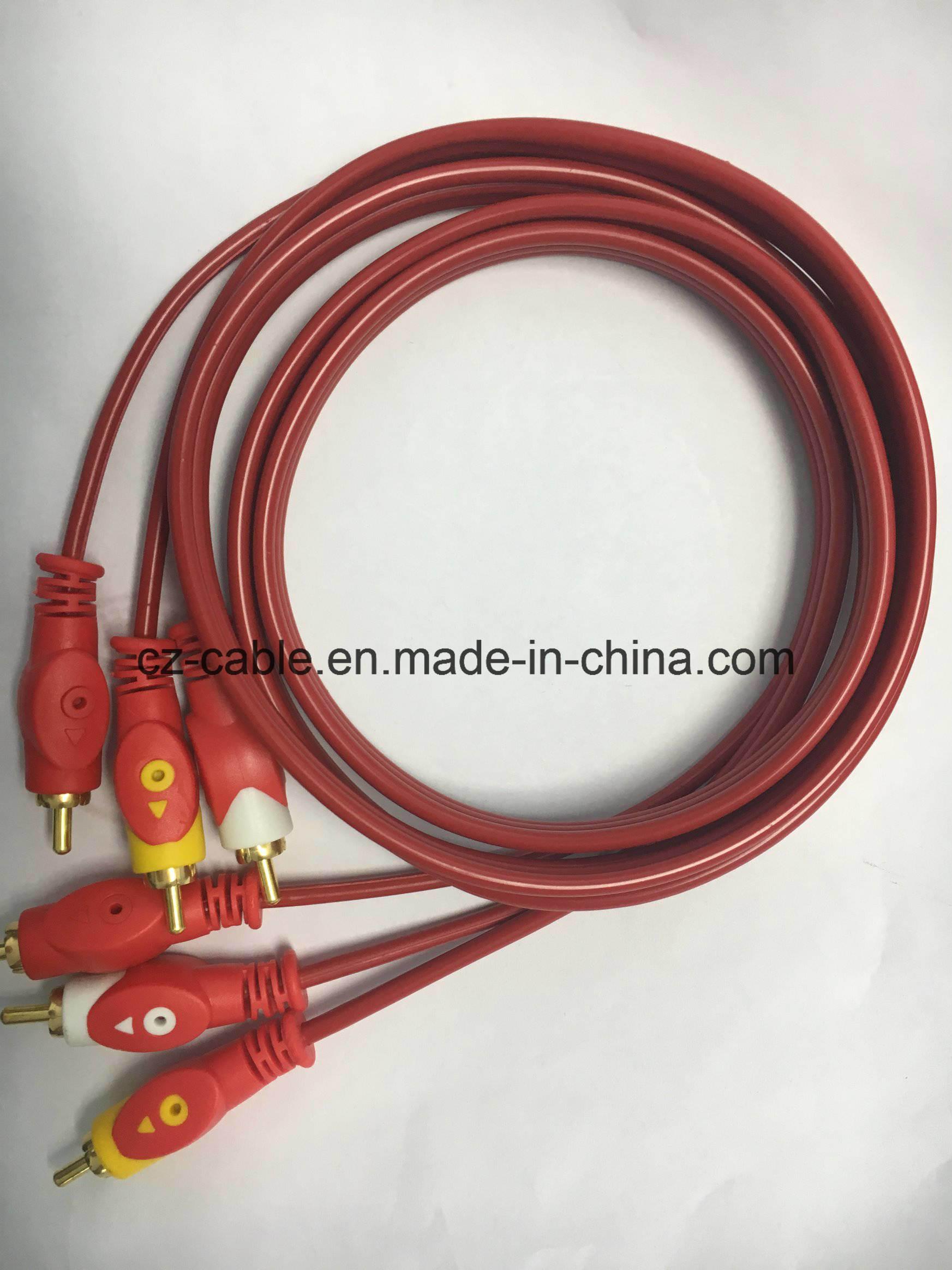 V Cable, Fisheyes, (3) RCA Plug to (3) RCA Plug Cable