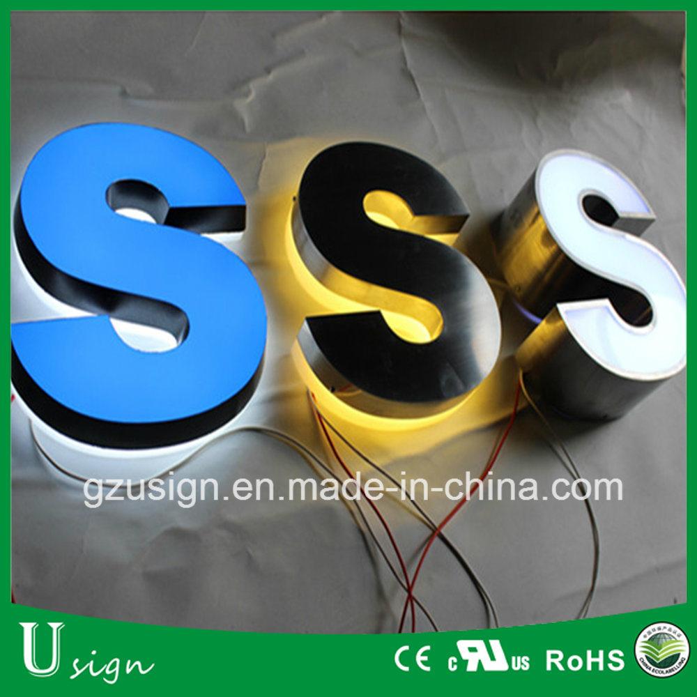 Aluminum Stainless Steel Brass Titanium Metal LED Illuminated Frontlit Backlit Halolit Channel Letter