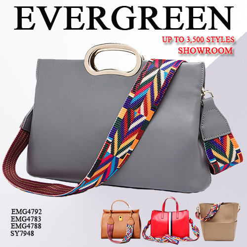 Professional Handbag Manufacturer, with 2 Factories & 3, 500+ New Samples Display in Big Showroom, Welcome to Visit Evergreen (SY6626)