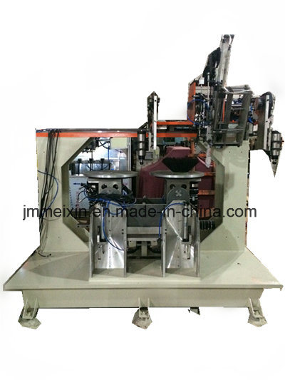5 Axis 2 Heads Drilling 1 Head Tufting Disc Brush Machine