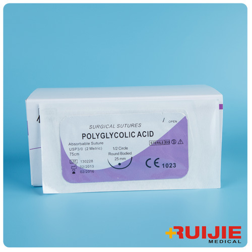 Polyglycolic Acid Surgical Suture with Needle
