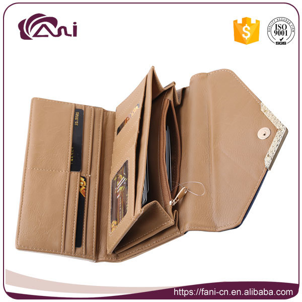 Fani Latest Candy Color PU Leather Wallet Purse Dollar Size 2017