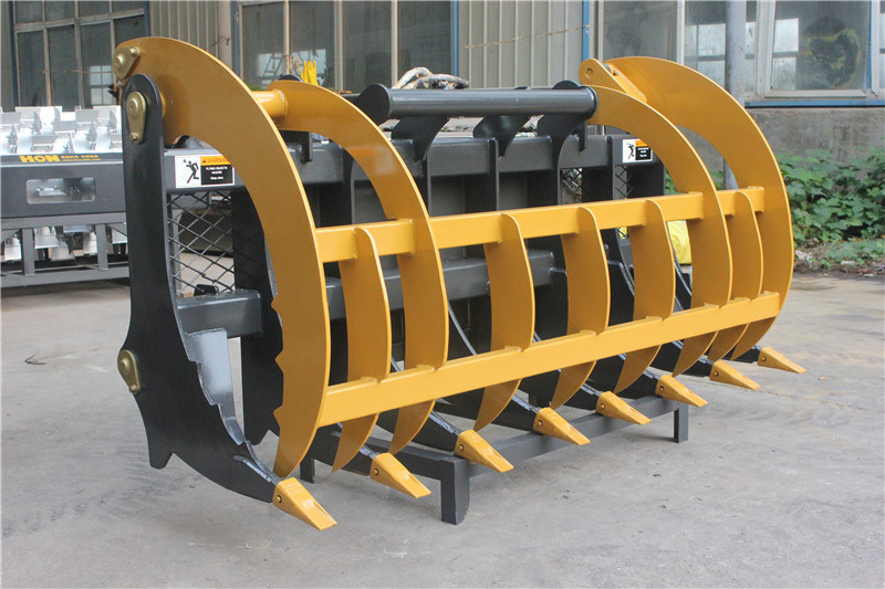 China Made Grass Grapple for Wheel Loser Skid Steer Loader