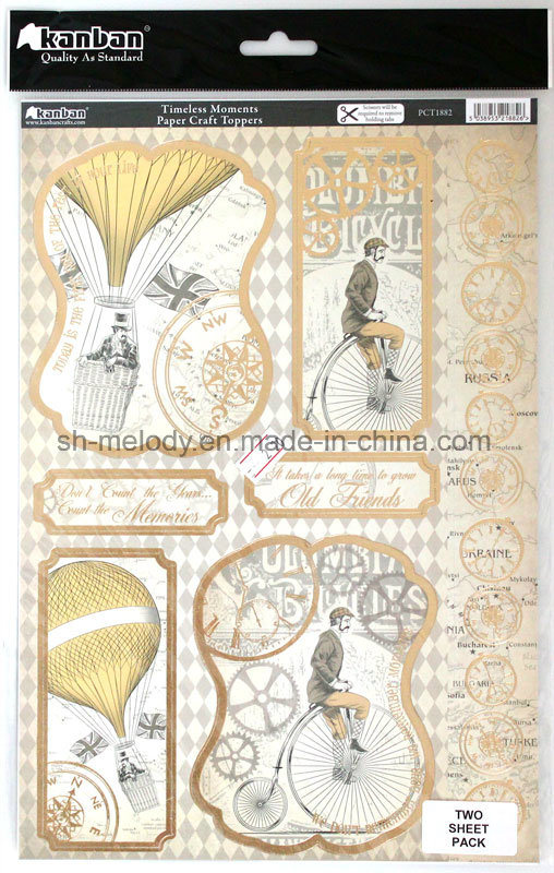 Exiqusite Foil Paper Craft Toppers for Decoration