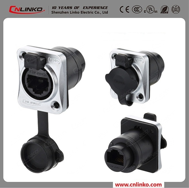 Waterproof Cat5e Ethercon 8p8c RJ45 Connector for Signal