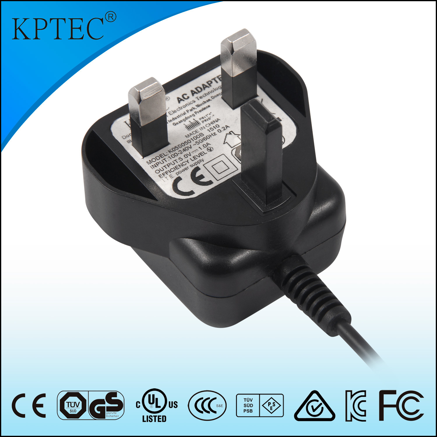 AC/DC Adapter with Ce Certificate 5V 0.4A