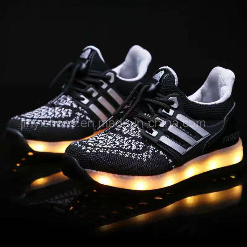 2016 Hot Sale Casual LED Shoes Breathable Man Shoes Light Lace up