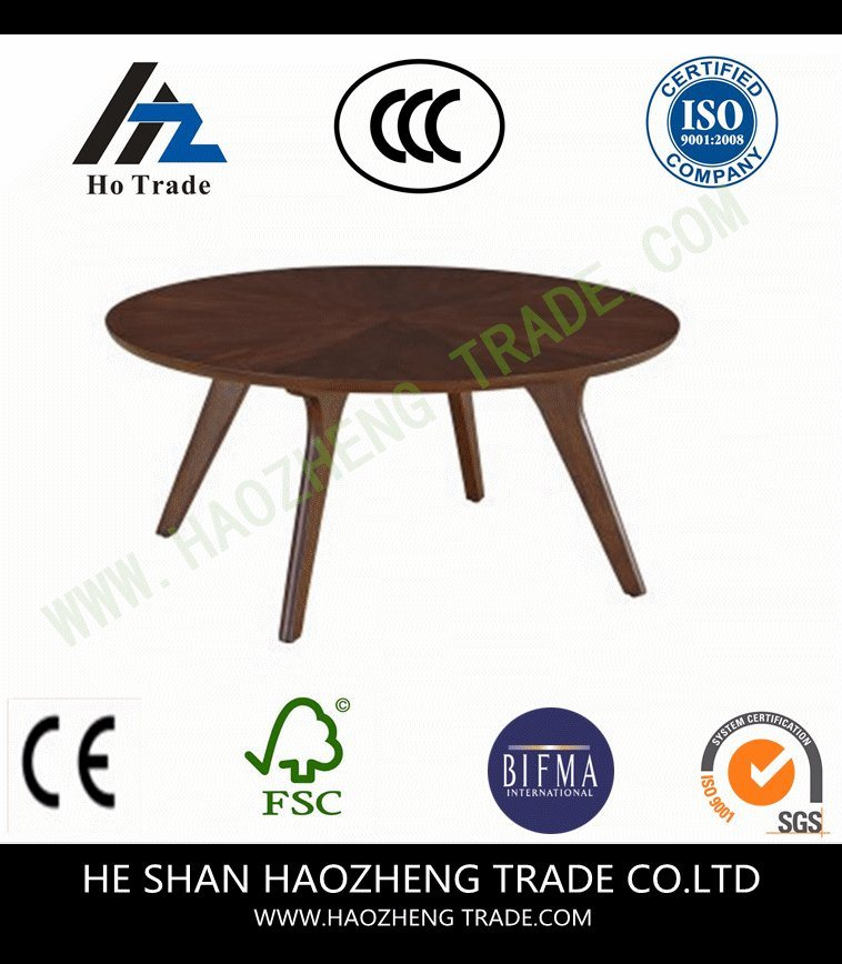 Hzct146 Ailsa Rimmed Round Wooden Coffee Table