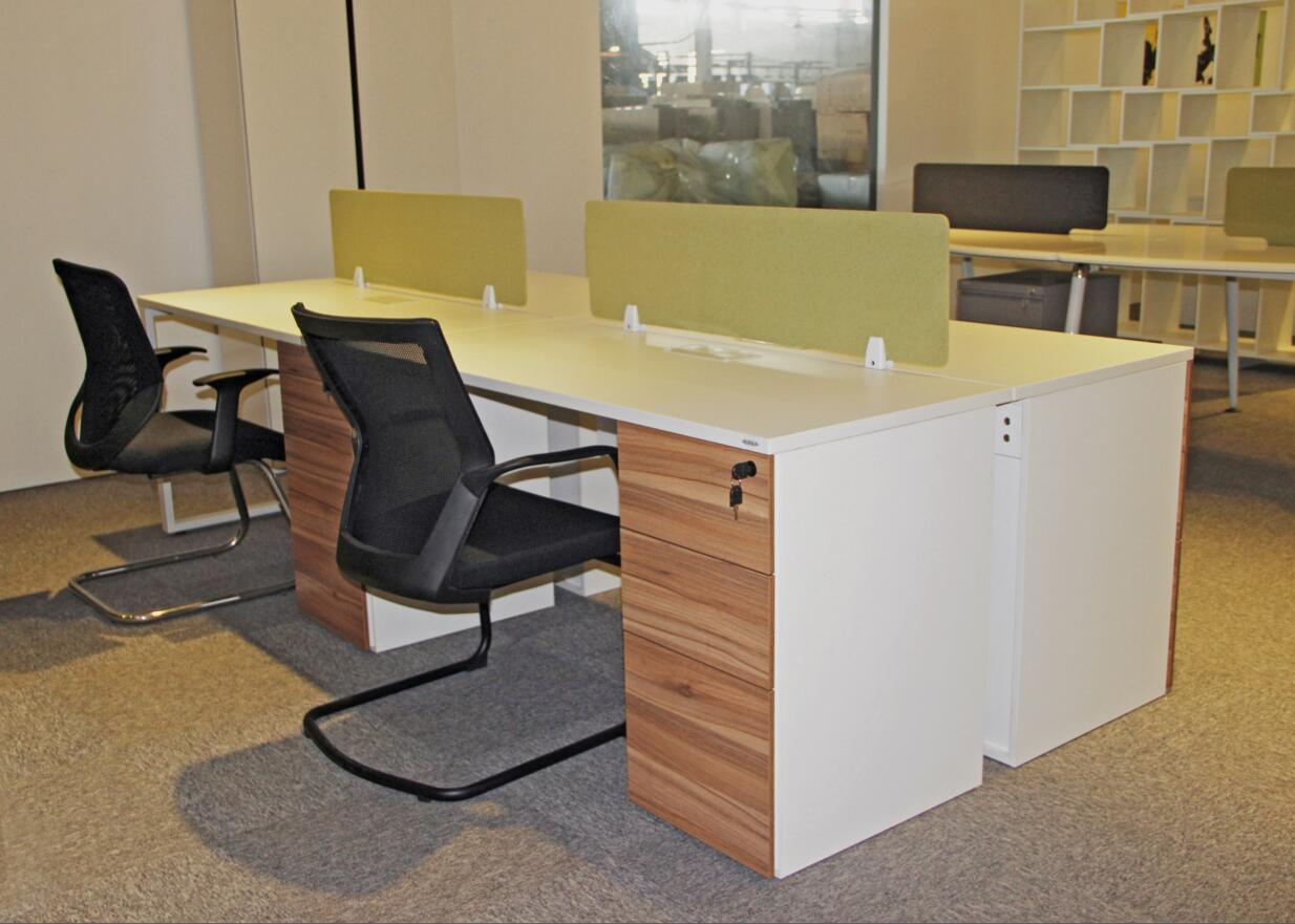 Modern New Office 4 Person Workstaiton with Storage Cabinet
