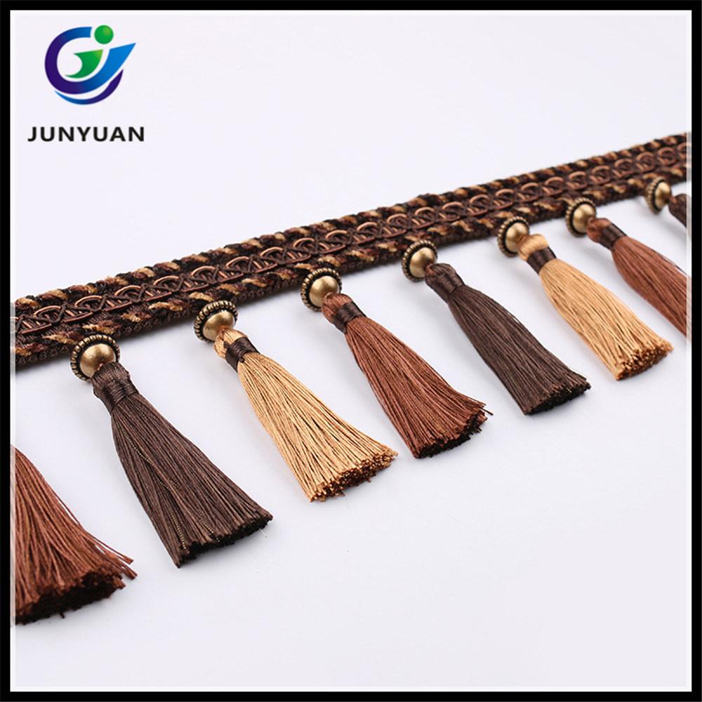 China Fabric Tassel Fringe Trims for Curtain Decorative