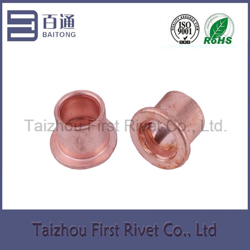 9.4X10mm Copper Plated Full Tubular Steel Clutch Rivet
