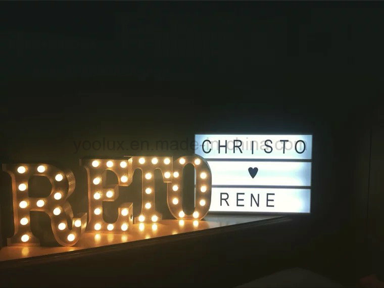 LED Cinematic Light Box DIY Letters Display A4 Light Box