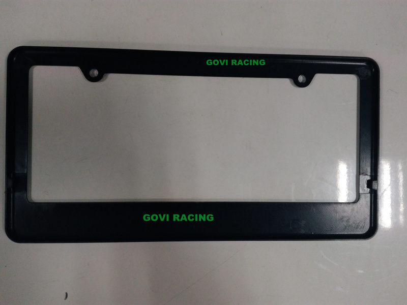 Black Custom License Plate Frames 312X160mm Universal for Americal Standard