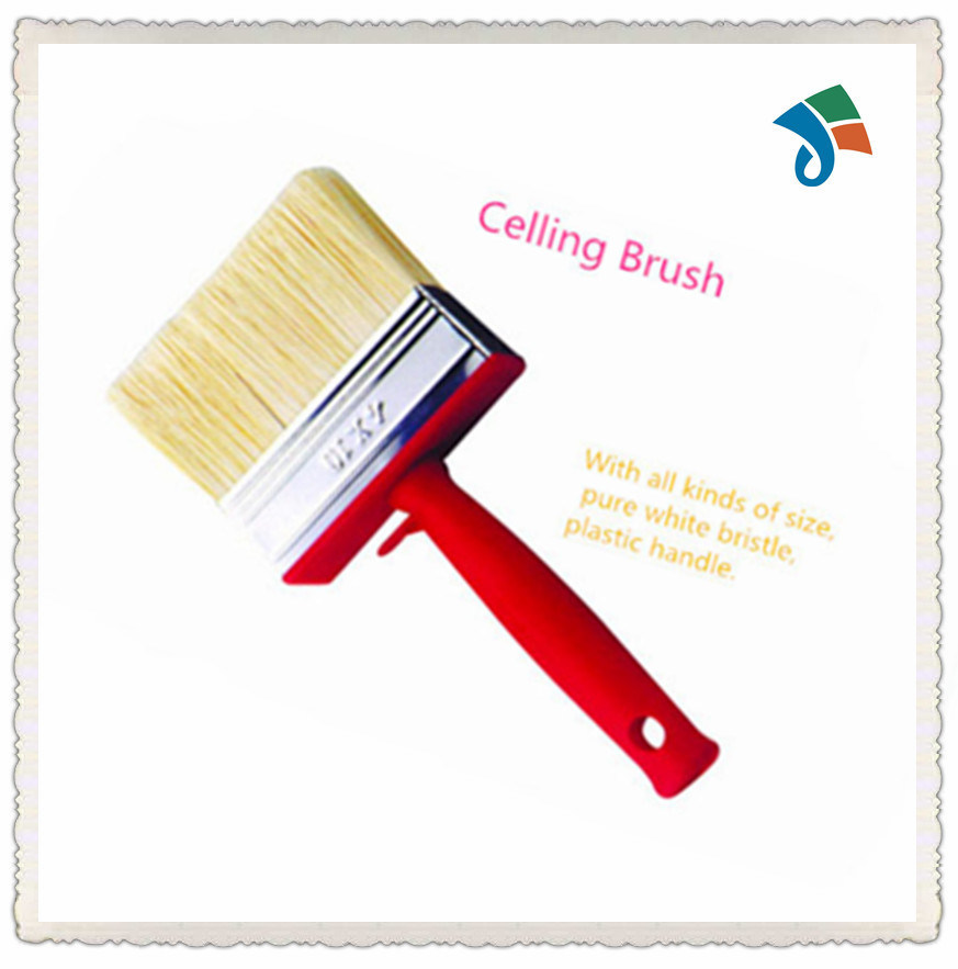 Plastic Handle Natural Bristle Ceiling Brush