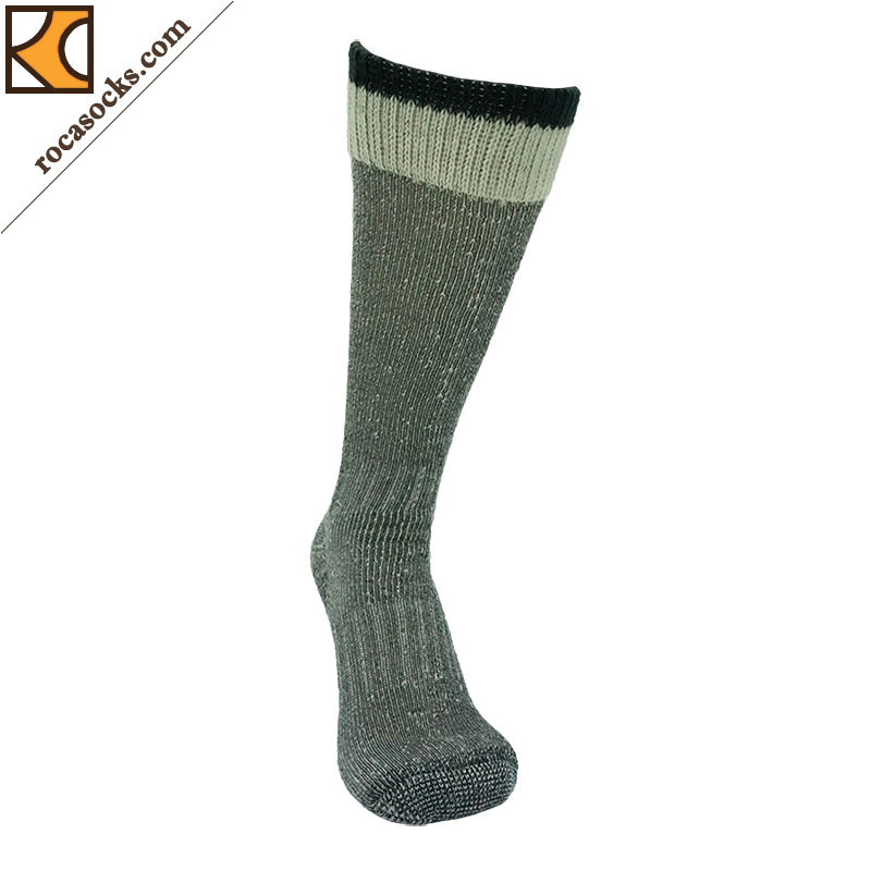 Double Cuff Merino Wool Gumboot Socks of Men (161007SK)