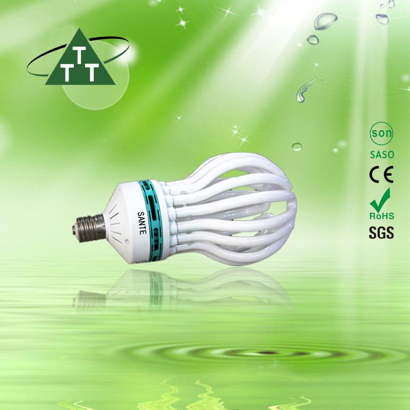Energy Saving Lamp 250W Lotus 8u Halogen/Mixed/Tri-Color 2700k-7500k E27/B22 220-240V