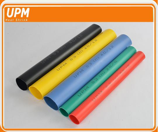 Colorful Halogen Free Medium Wall Heat Shrink Tubing 3: 1