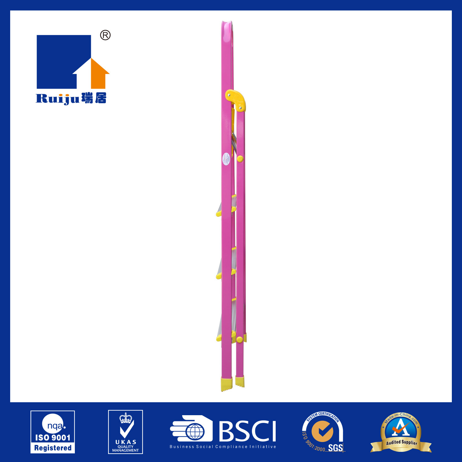Pink Paint Aluminum Ladder