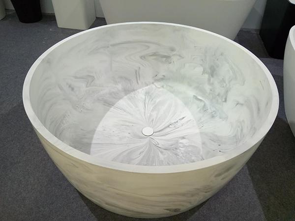Marble-Like Freestanding Bathtub Modern Style