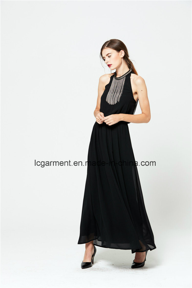 Summer New Style Sexy Chiffon Halter Neck Long Woman Dress