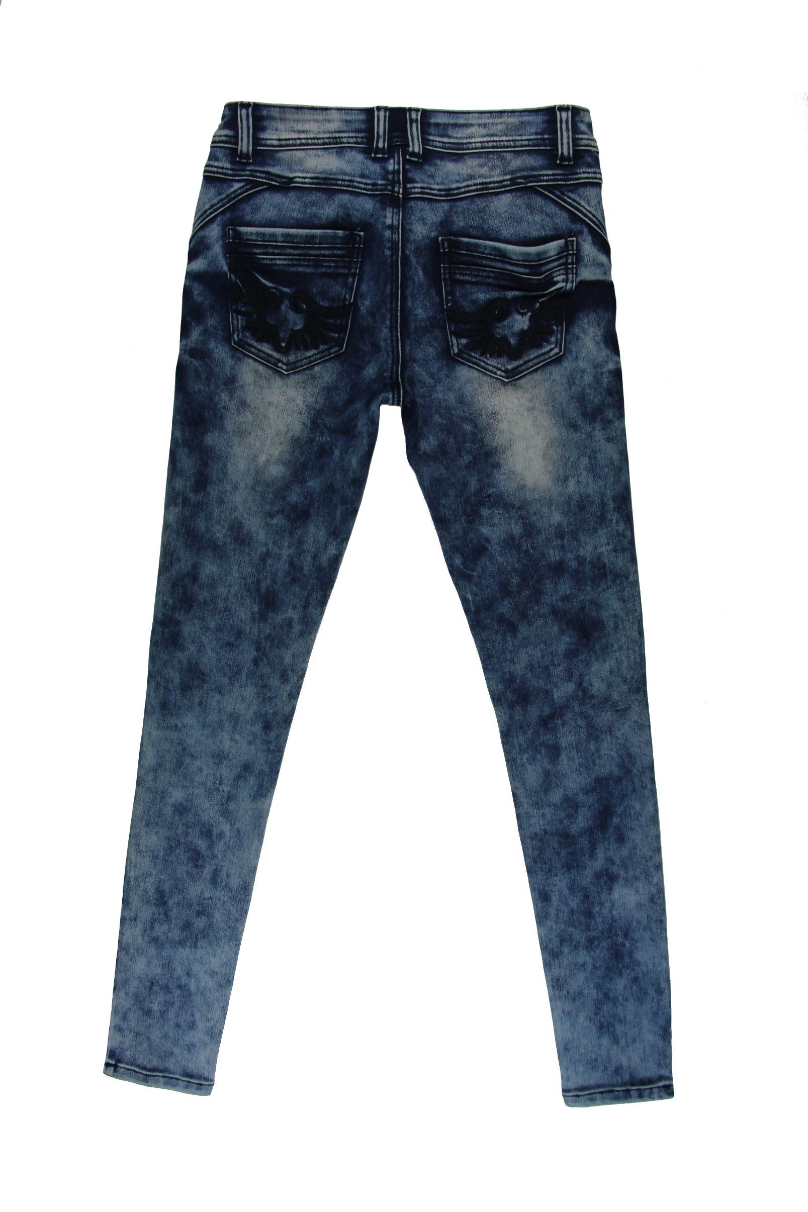 2017 Lady′s Snow Wash Wholesale Skinny Denim (MYB06)