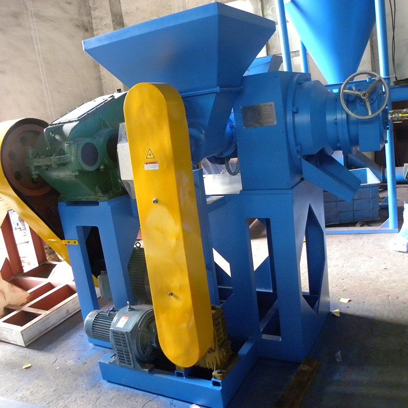 Cqj-280 Rubber Chip Grinder Tire Crusher Automatic Tyre Recycling Plant
