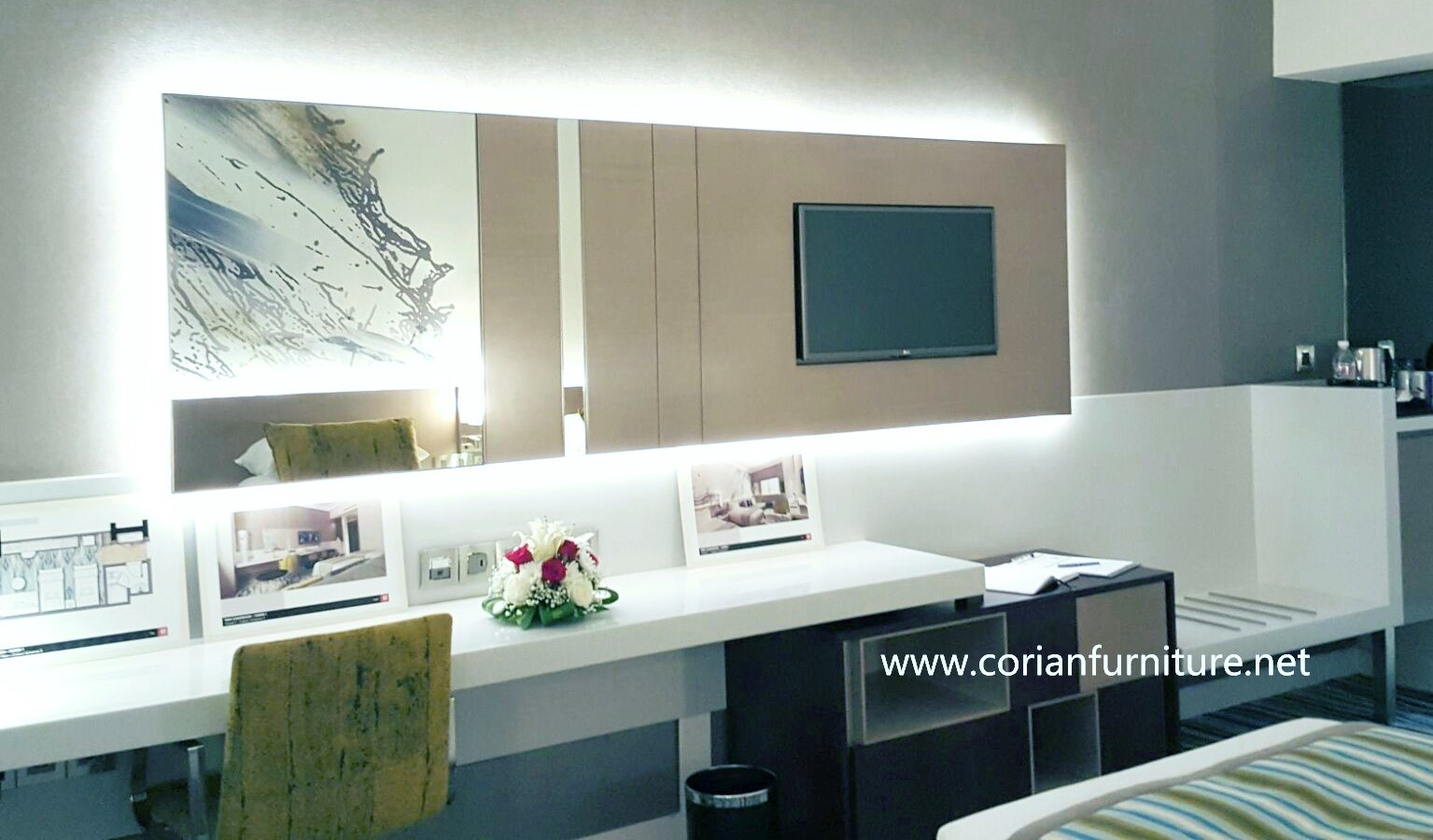 Acrylic Solid Surface Corian Interior Decoration Project