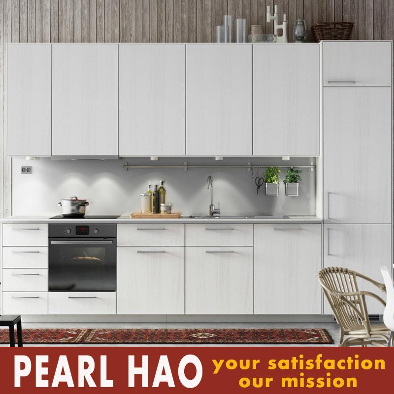 Modern MDF Melamine Solid Wood Kitchen Furniture Cabinet