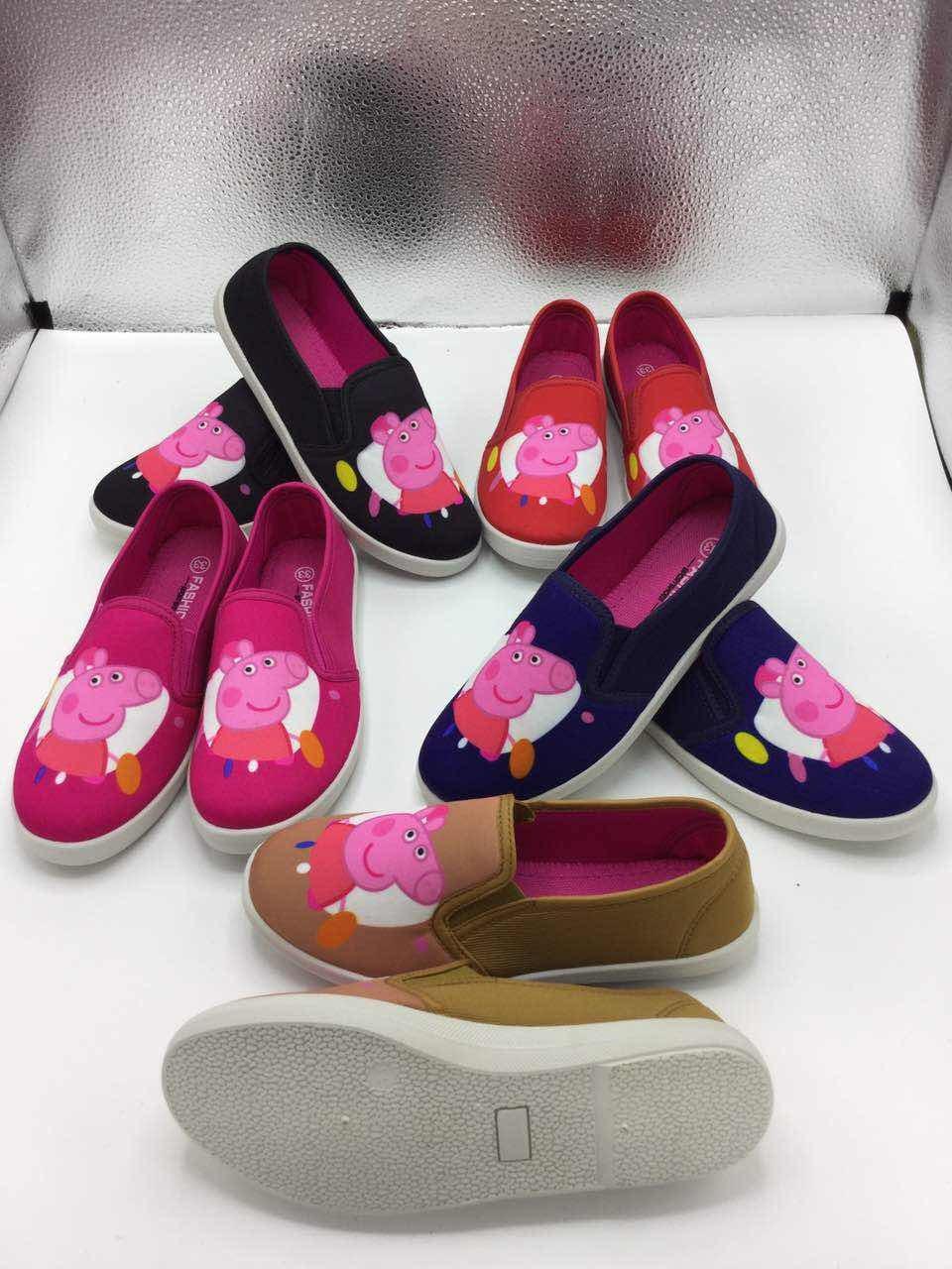 2017 New Children′s Classic Fashion 3D Print Casual Canvas Shoes