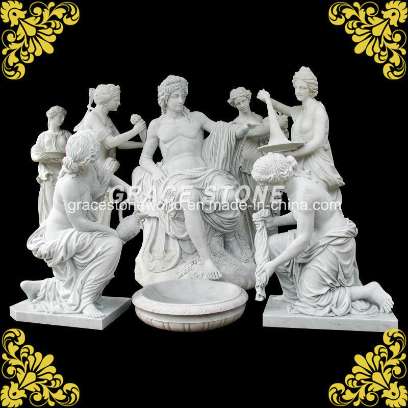 Marble Apollo Bathing Set Sculpture