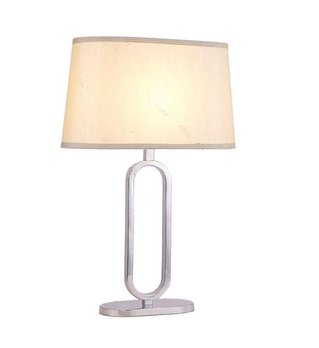 Metal Table Lamp with Fabic Shade (WHT-211)