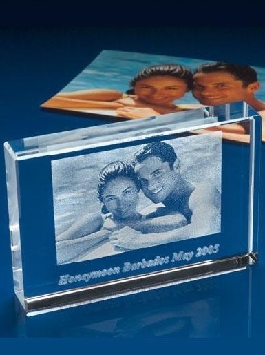 Transparent Crystal Laser Etched 2D Photos (ND-1020)