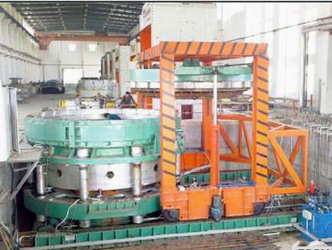 Mechanical Double Mold Tire Shaping and Curing Press