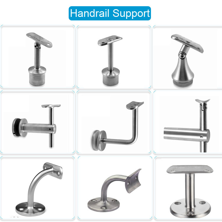 Wall Mount Handrail Bracket for Stainless Steel Railing and Balustrade