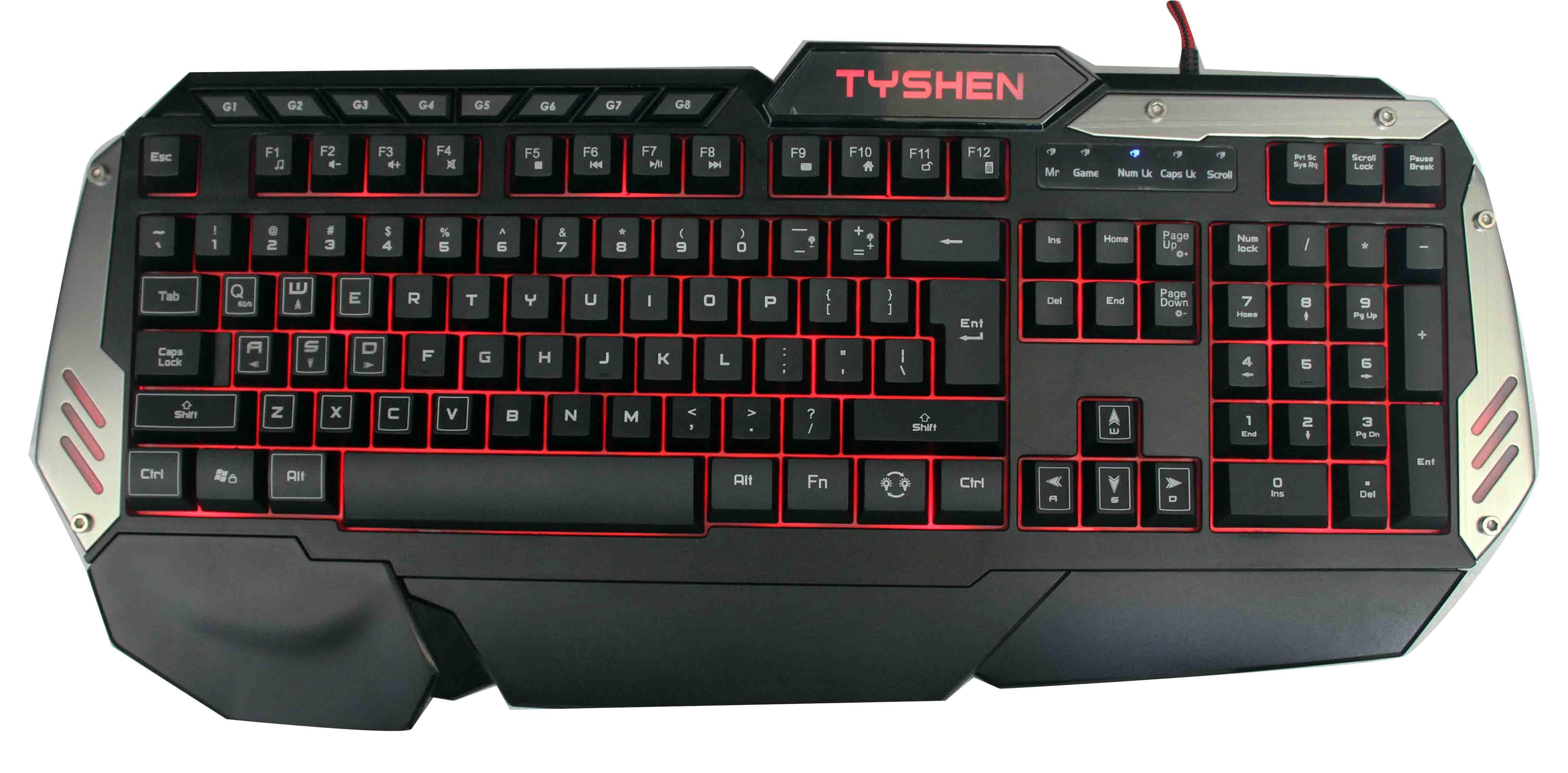 Backlight Gaming Keyboard, 19 Keys No Conflict