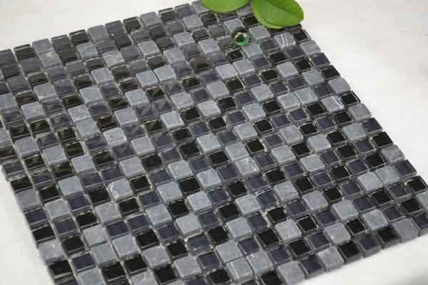Azulejos Baño Tipo Mosaico:Mosaico de cristal gris para el azulejo del cuarto de baño (TG-LA-036