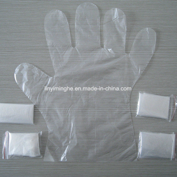 Disposable Plastic PE Folded HDPE LDPE Medical Glove