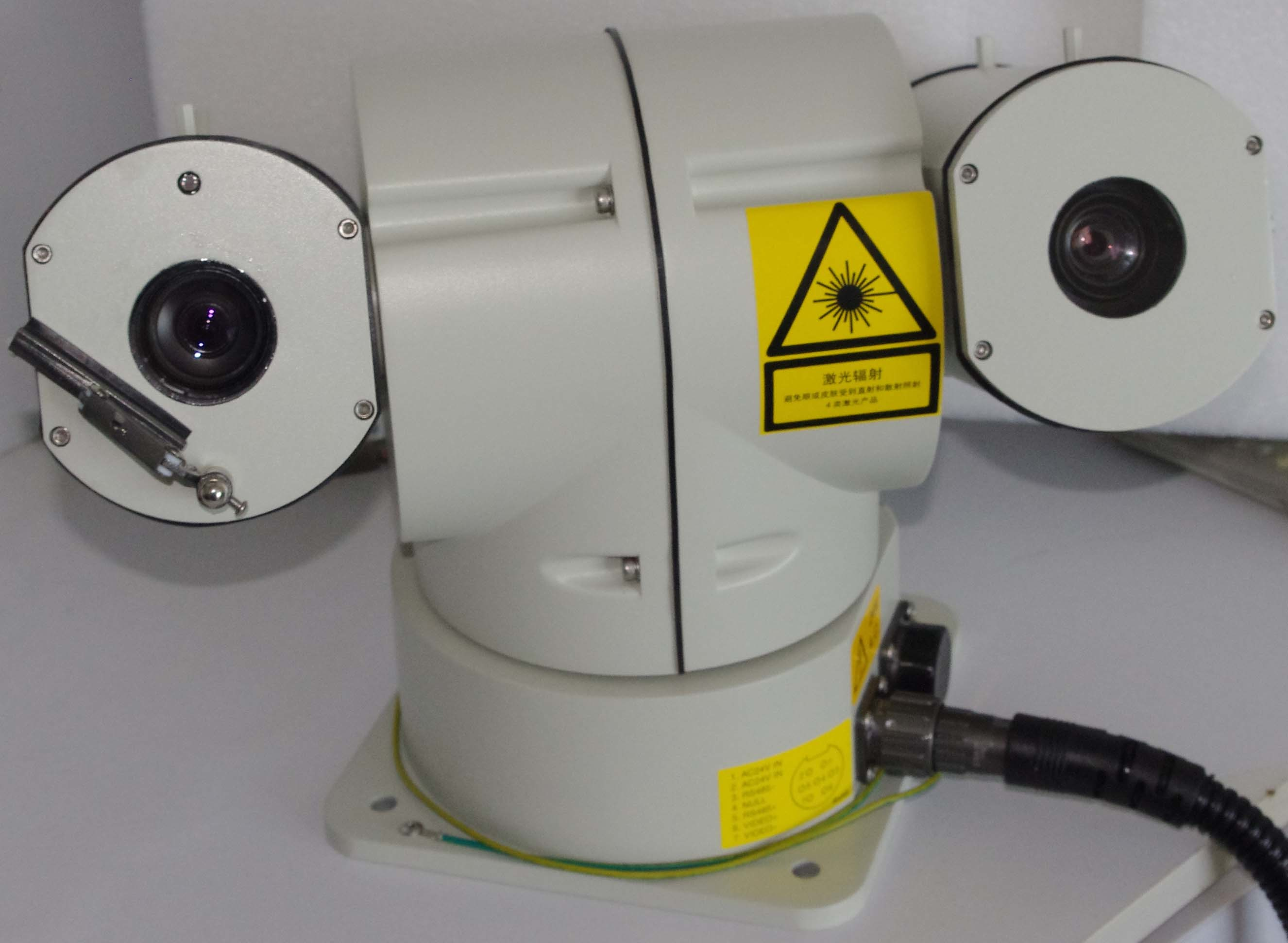 HD Laser PTZ Camera with IP Outdoor with wiper