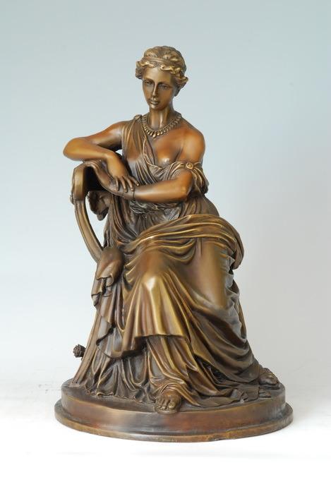 China bronze lady statue sappho sculpture tpe 136 china bronze