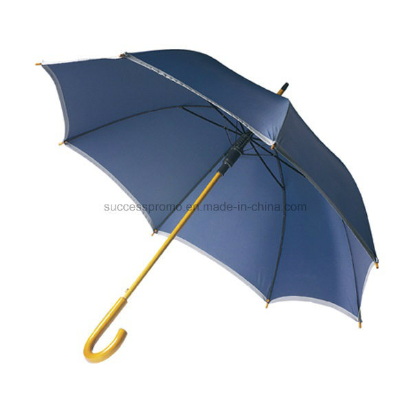 Automatic Opening Umbrella with Reflective Border