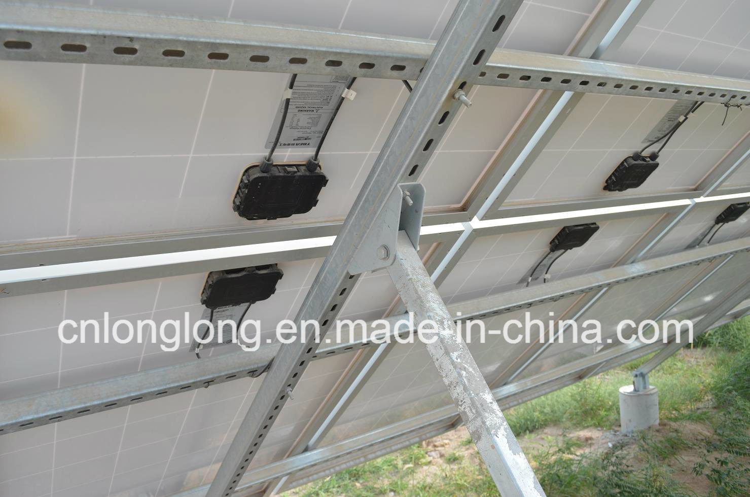 Solar Panel Pole Mounting Brackets for 60um Zinc 50years Guarantee Ll-Se-04