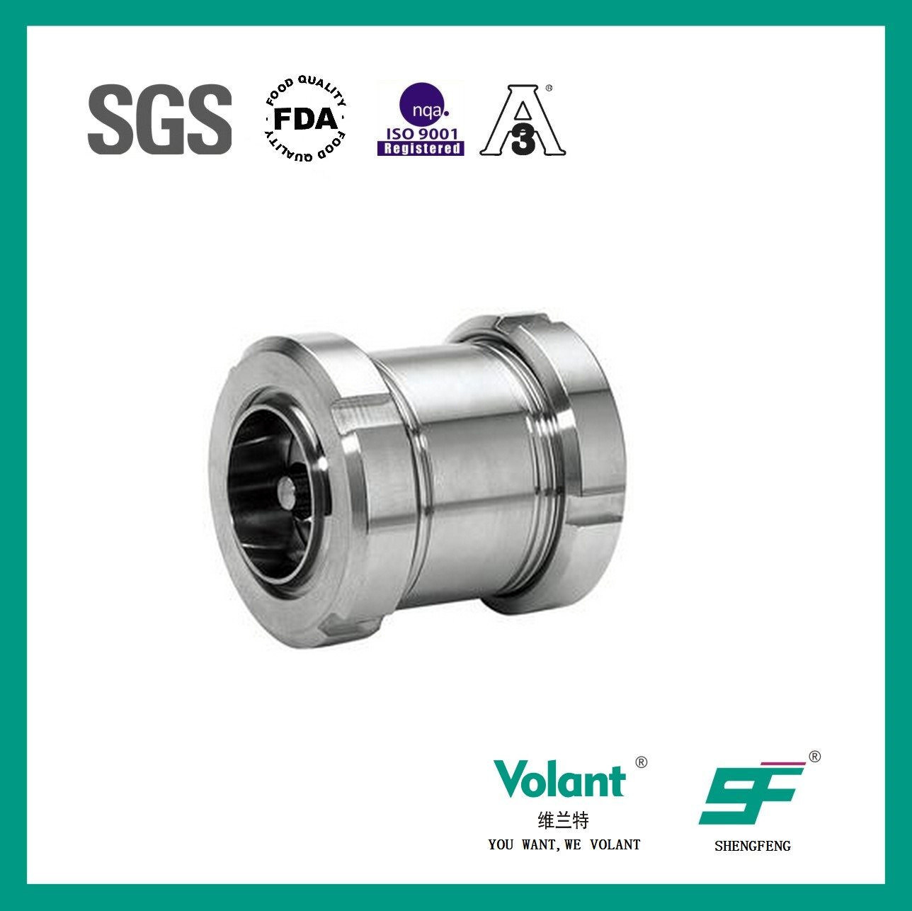 Sanitary Stainless Steel Slipknot Check Valve