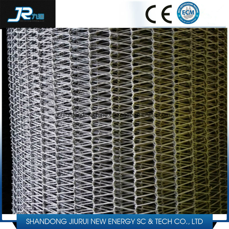 Smooth Running SUS Wire Rope Linked Spiral Mesh Conveyor Belt