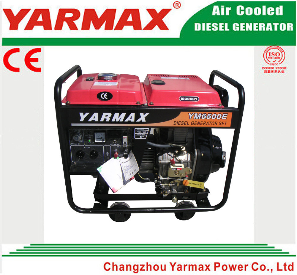 Yarmax Low Noise Air Cooled Diesel Engine Open Frame Diesel Generator Set Genset Ym7500eb-I