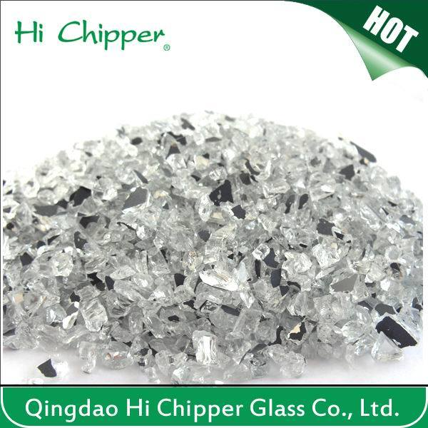 Crushed Decorative Glass Mirror
