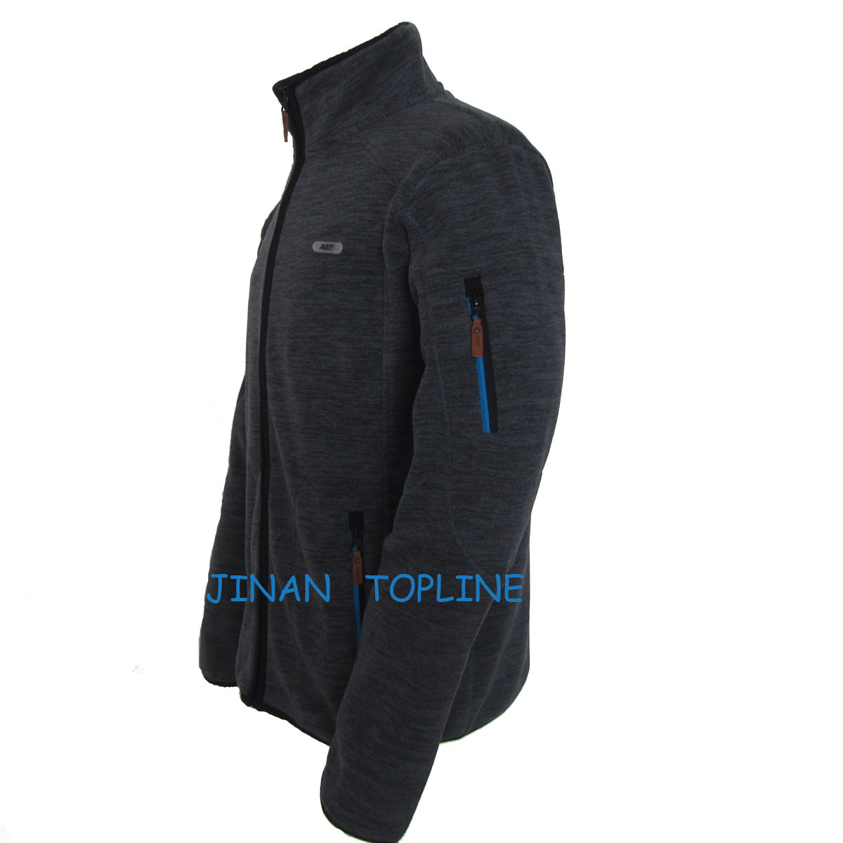Men Cationic Dyed Polar Fleece Windproof Leisure Jacket Sports Wear
