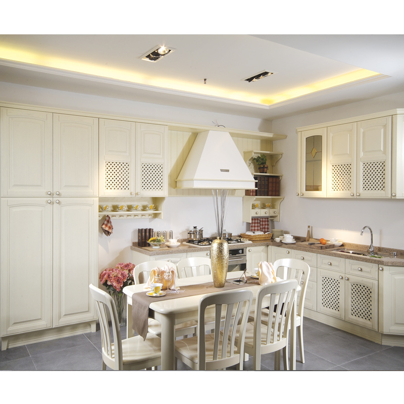 China White Traditional Oak Solid Wood Kitchen Cabinets Photos